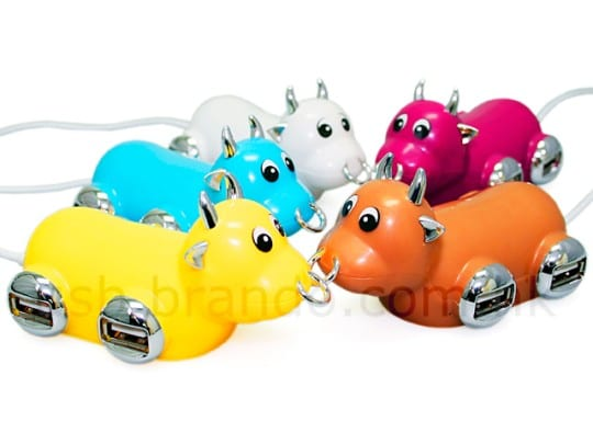 USB Moo Bull 4-Port Hub