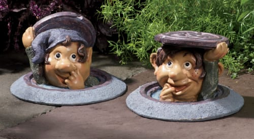 Garden Manhole Gnomes