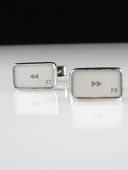 Rewind and Fast Forward Symbol Key - Cufflinks