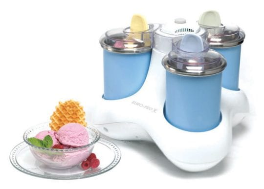 Triple Canister Ice Cream Maker