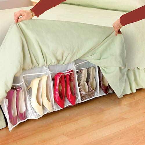 Shoe-Organizing Bed Skirt