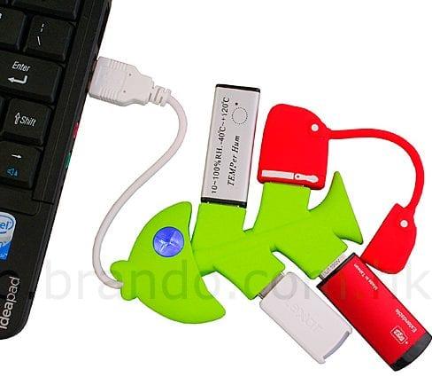 USB Fishbones 4-Port Hub