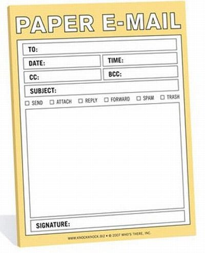 Paper Email Notepad