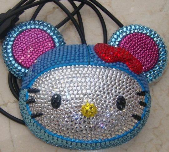 Usb computer mouse hello kitty rabbit