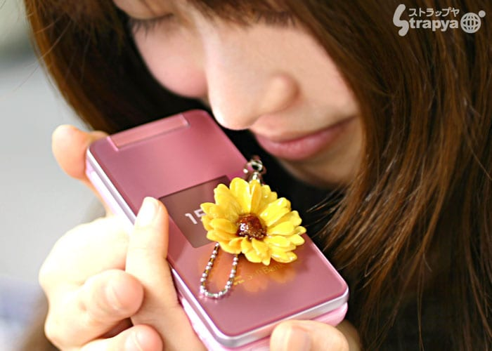 Real Bloomed Birthday Flower Cell Phone Strap