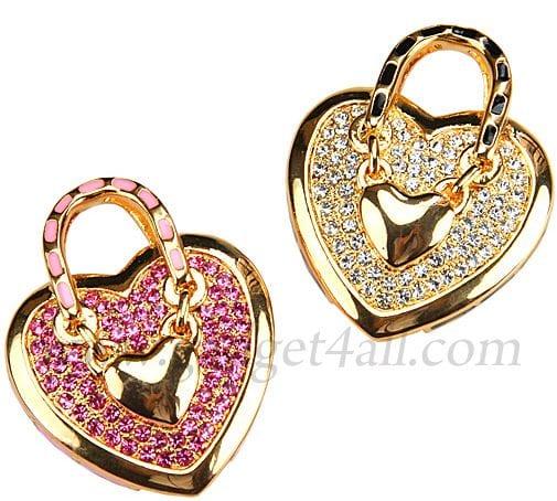 Heart Handbag Necklace USB Flash Drive