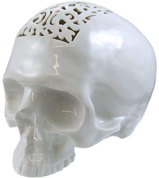 Filigree Skull Money Box