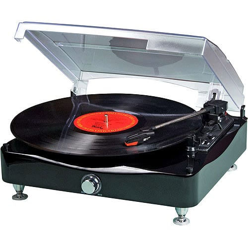Grace Digital Vinylwriter Boca TurnTable with USB to PC
