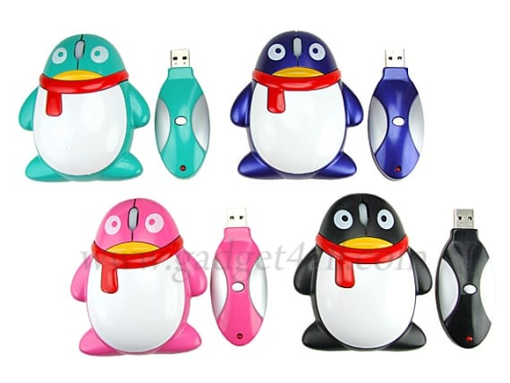 USB Wireless Penguin Mouse