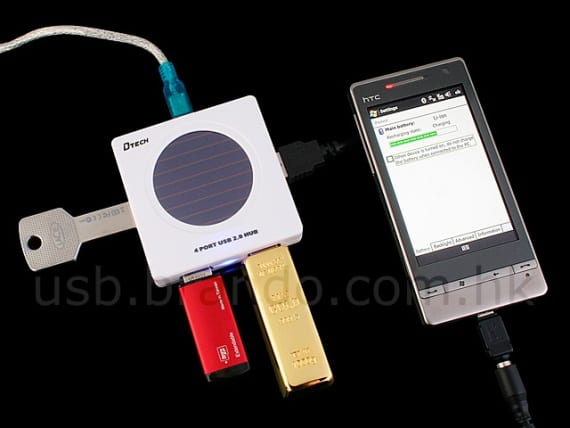 USB Solar Charging 4-Port Hub