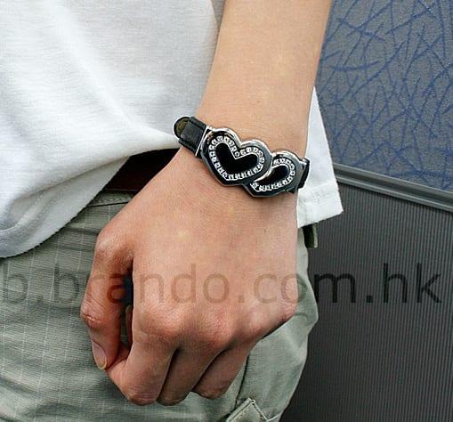 USB Jewel Heart-to-Heart Bracelet Flash Drive
