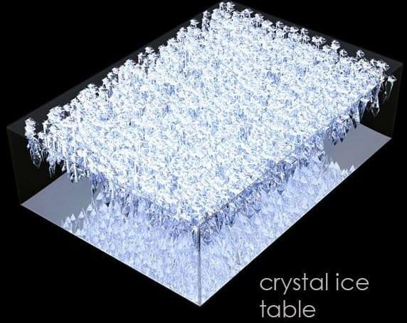 crystal ice furniture