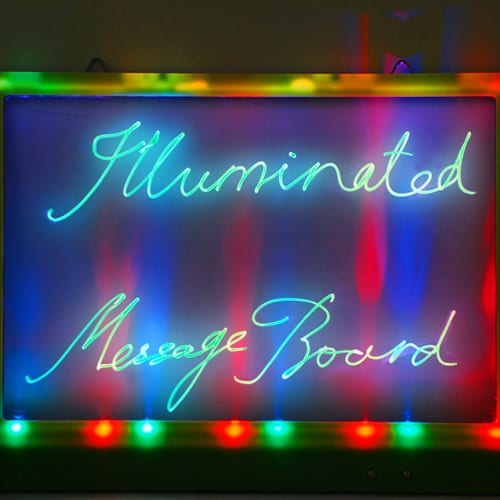 LED Illuminated Message Board