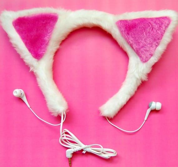 cat-ear earphones