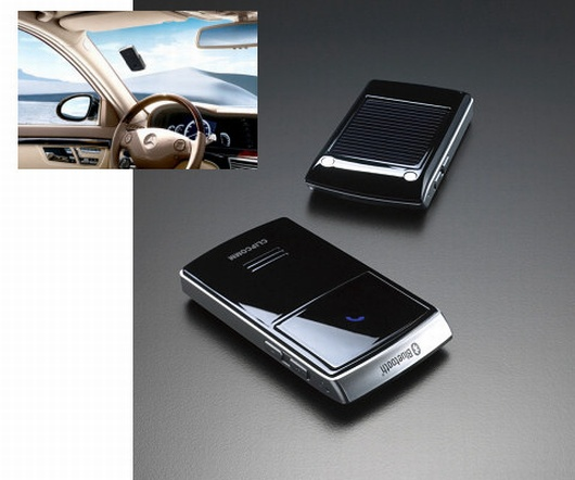 Solar Powered Bluetooth Handsfree Car Kit