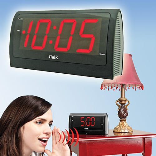 iTalk®  voice alarm clock