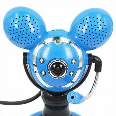 Blue Webcam with Speakers
