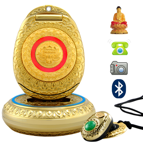 Buddha Cellphone with Genuine Jade