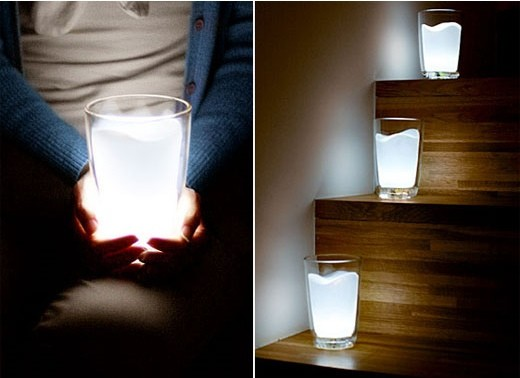 Cute Milk Glass Night Light