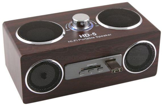 USB Retro Wooden Speaker/MP3 Player