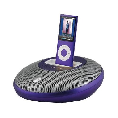 Speaker System for iPod Purple
