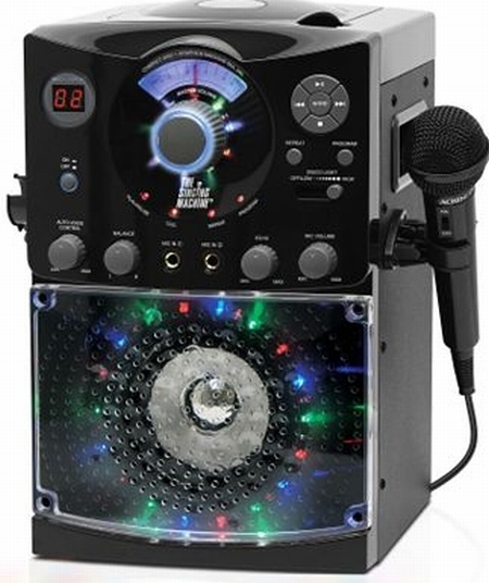 Singing Machine Top-Load CDG Karaoke System with Disco Light Effect
