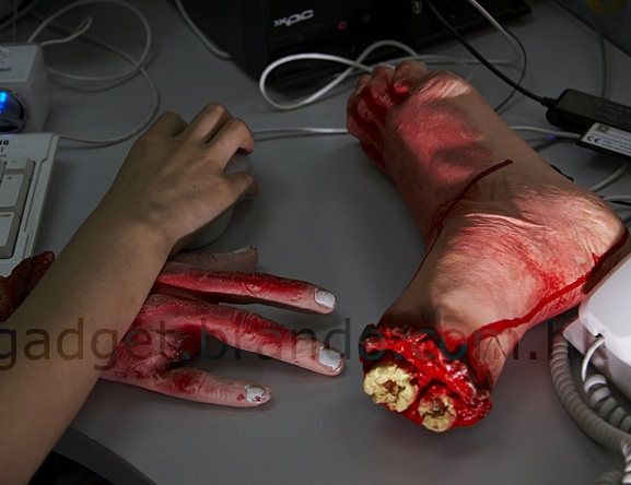 Halloween Bloody Hand Foot Wrist Rest