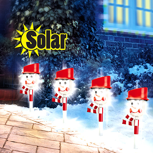 SOLAR SNOWMAN PATH LIGHT