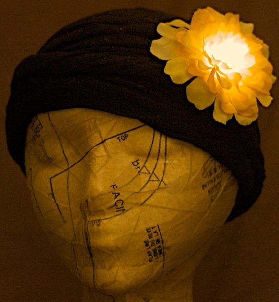 Light up LED Hair Flower clip