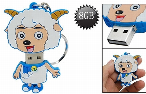 8GB Sheep Design USB 2.0 Flash Memory Drive