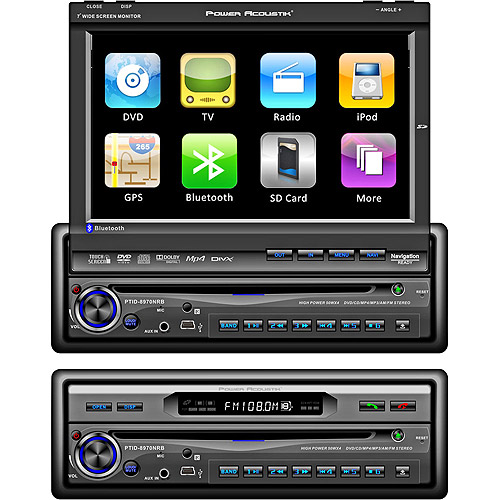 """Power Acoustik 7"""" Touch Screen Monitor/Receiver with Bluetooth"""