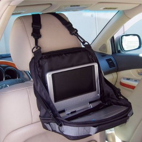 Take your portable DVD player and favorite movies on the road in this compact, thickly padded, multi-functional case.