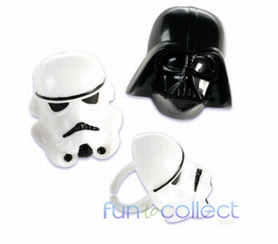 Star Wars Darth Vader and Stormtrooper Cupcake Rings