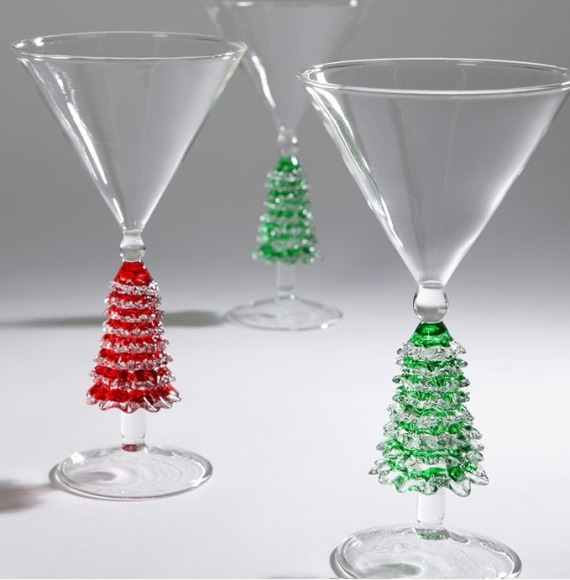 Tree Martini Glasses
