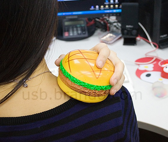 USB Burger Hand Warmer and Massager