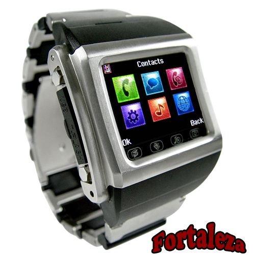 Quad Band Watchphone in Stainless Steel