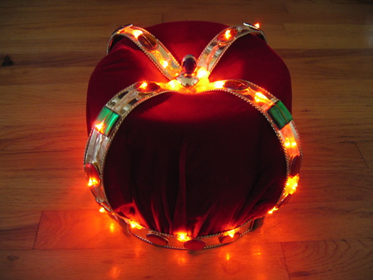 crown with flashing multicolor LEDs