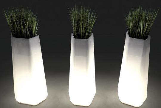 TRANSLUCENT LIGHT PLANTER