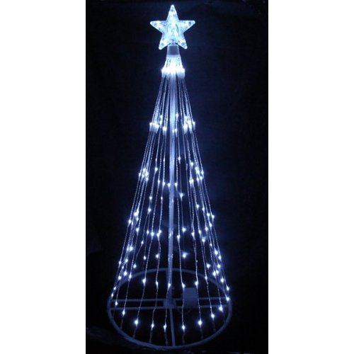 Christmas Tree Lighted Yard Art Decoration