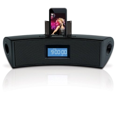 Digital Speaker System with Dual Alarm Clock/FM Radio for iPod and MP3 Players