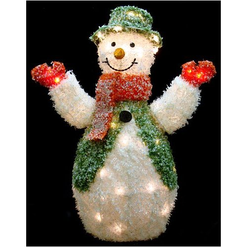 Icy Crystal Snowman Lighted Christmas Yard Art