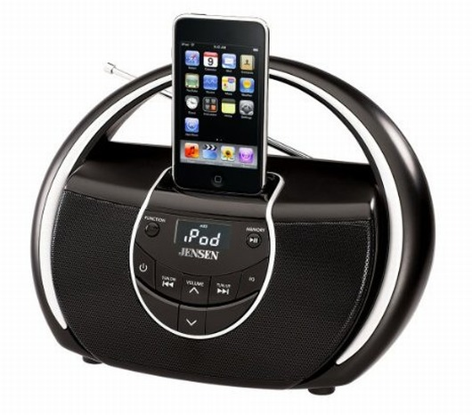 Portable Docking Music System for iPod
