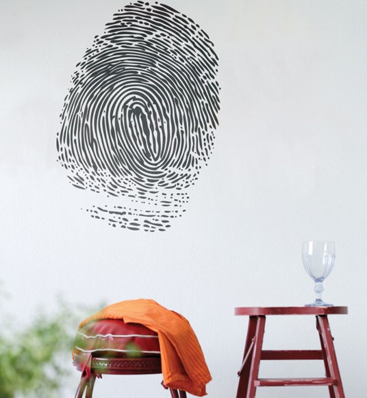 Finger Print Wall Sticker