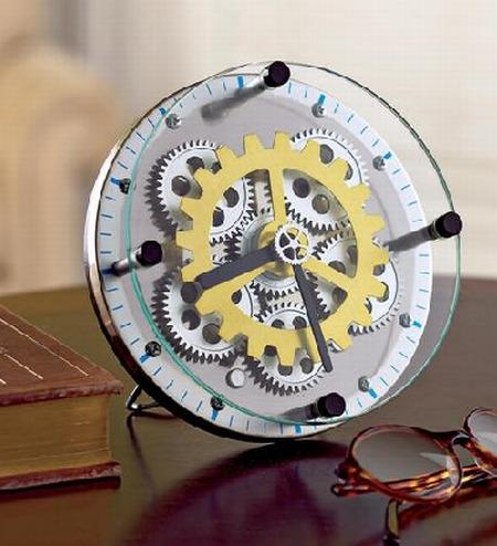 """GearUpâ""""¢ Brass Clock"""