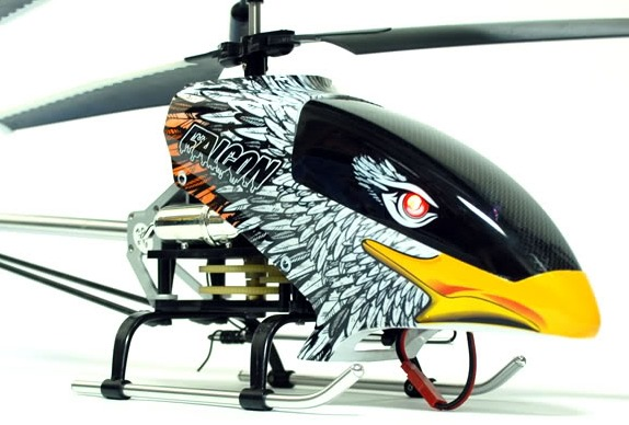 """RC Helicopter Radio Remote Control 26"""" Electric Falcon Heli with Metal Ski"""
