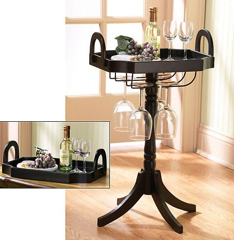 Wine Glass Tray Table