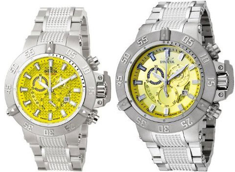 Invicta Men's 6689 Subaqua Collection Noma III Chronograph Stainless Steel Watch Set