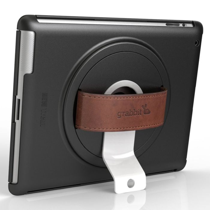 Trent IMP37B Grabbit iPad 2 Case with Genuine Leather secure Backing and 360