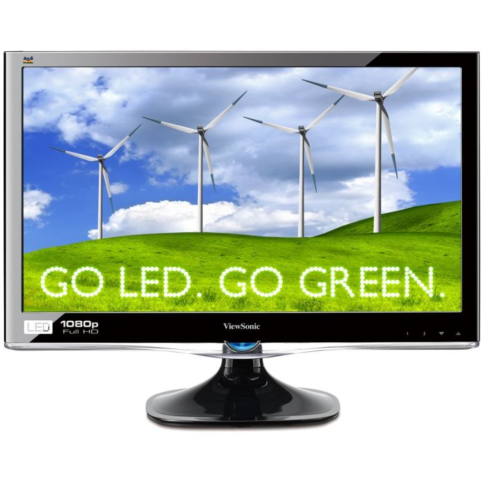 Viewsonic VX2450WM-LED 24-Inch (23.6-Inch Vis) Widescreen LED Monitor with Full HD 1080p and Speakers - Black
