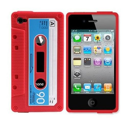 Classic Cassette Silicone Case Skin for Iphone 4 4th 4g